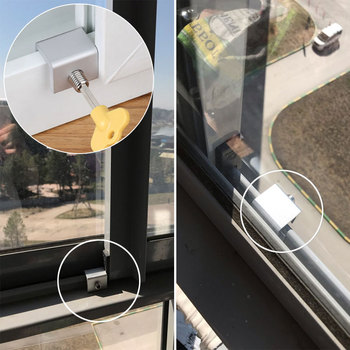 2Pcs/Lot Child Window Restrictor Security Locks Stainless Steel Door Window Limit Lock Prevent Children From Falling Safety Lock цена 2017