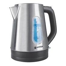 Чайник электрический Vitek VT-7038(ST) (Мощность 2200 Вт, объем 1.7 л, автоотключение, отсек для хранения шнура)