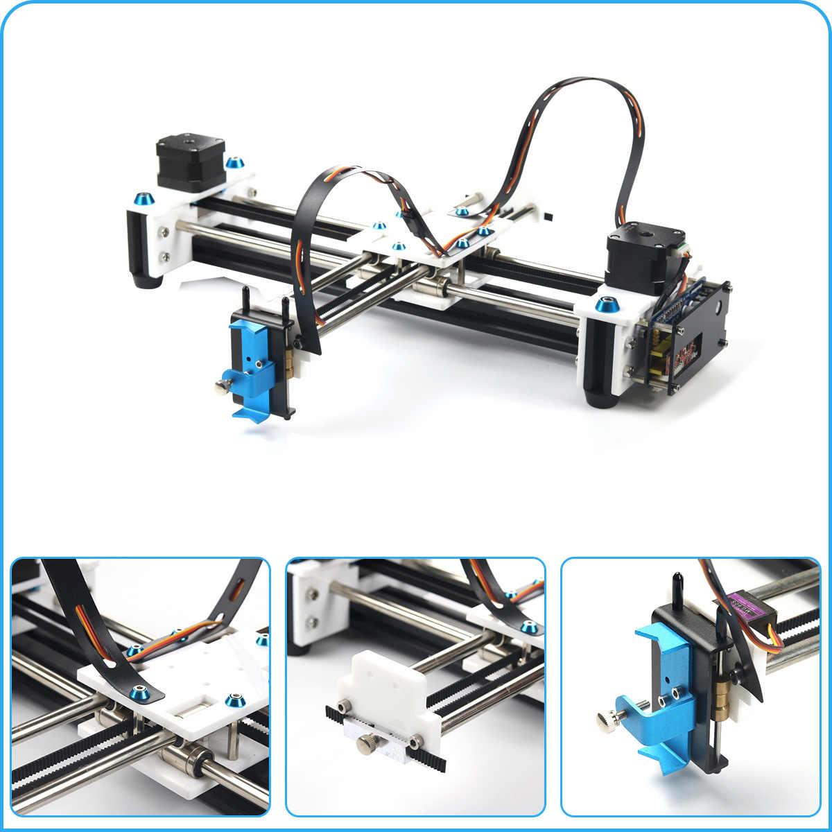 280x200 มม.มินิ XY 2 แกน CNC ปากกา USB เลเซอร์ DIY เครื่องวาดพื้นที่แกะสลัก Desktop Drawing หุ่นยนต์
