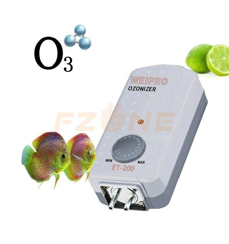 Adjustable Aquarium Ozone Generator Fish Tank Ozonizer Ozone Sterilization Used With Air Pump Or Protein Skimmer