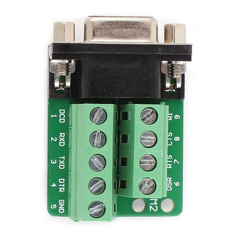 AABB-RS232 D-SUB DB9 メスアダプタ端子コネクタ信号モジュール