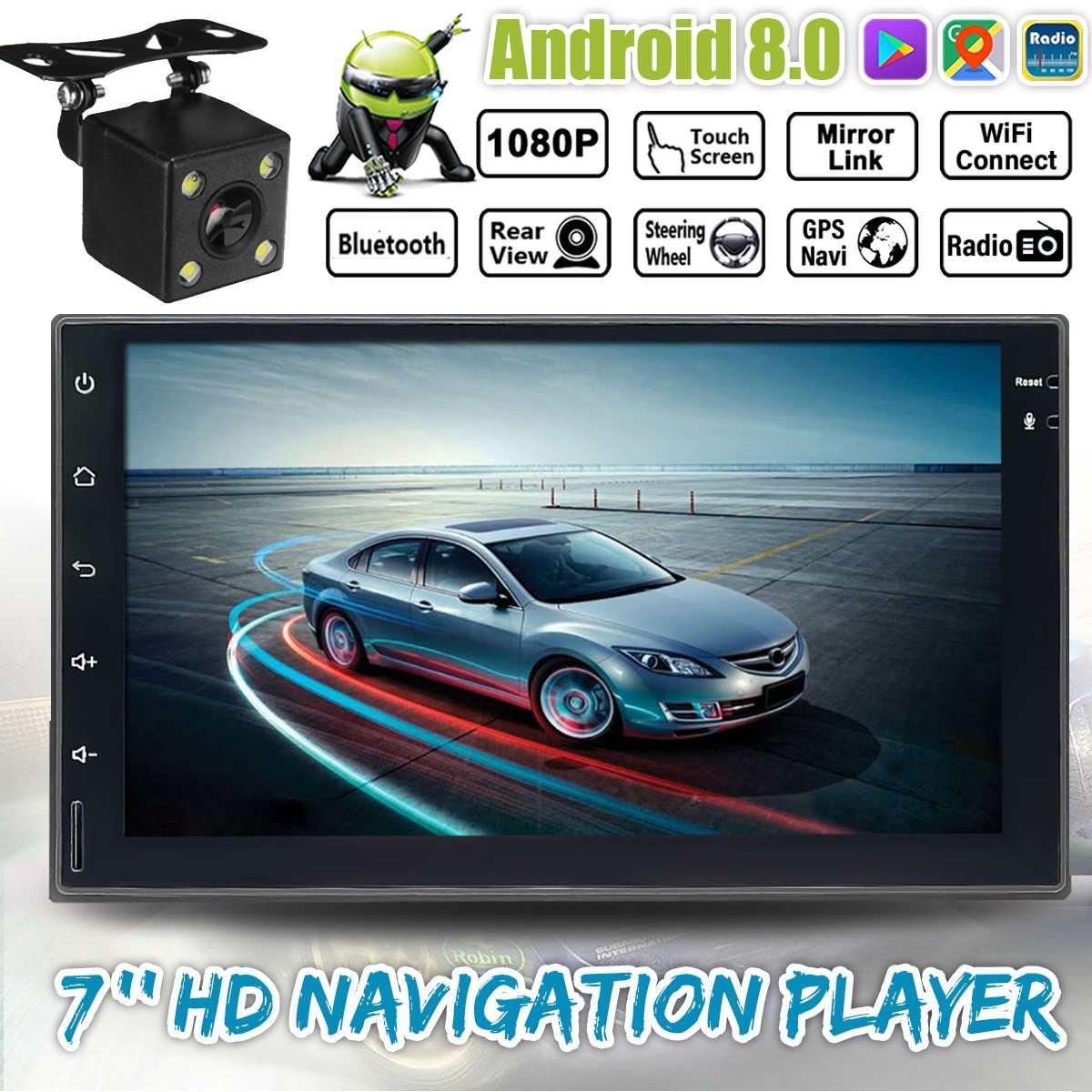 7 pouces IPS bluetooth WIFI autoradio 2 Din Android GPS Navigation FM/DVD/MP5 lecteur multimédia stéréo récepteur sans fil transmission