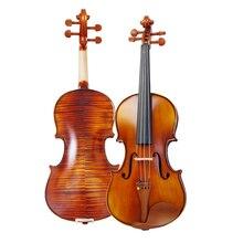 Высококачественная деревянная стружка 4/4 из ели, деревянная стружка для скрипки, отправляется футляр для скрипки/Кленовая боковая панель с бантами