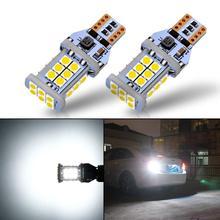 1300 люменов без ошибок W16W T15 светодиодный лампы 3030 24SMD для заднего хода резервные огни 6500K белый(упаковка из 2
