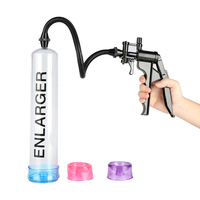 Penis Pump & Extender,Manual Operation Vacuum Enhancer Pump,Penis Enlargement Enlarger,Adult Sex Products Toys for Man Male A3