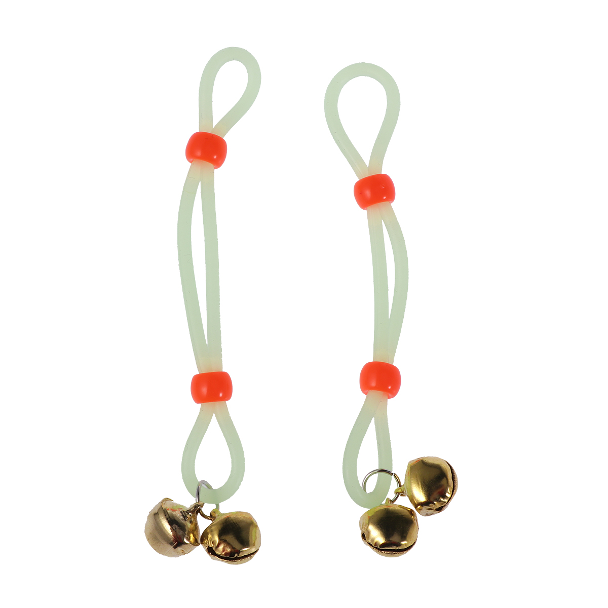1 Pair Luminous Rope Nipple Clamps Adjustable Breast Clips Bell Pendants Sexy Flirting Toy  (Green Rope Golden Bell)