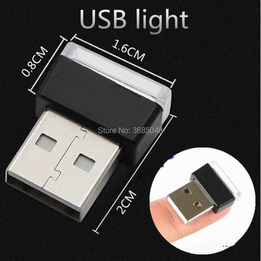 الصمام سيارة ضوء السيارات الداخلية USB ضوء لسوبارو فورستر honda صالح mitsubishi لانسر 9 كيا سورينتو نيسان x- درب t32 ليفان x60