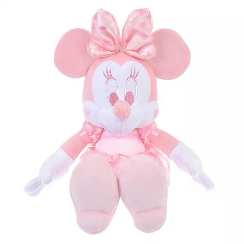 Cute Cartoon Pink Cherry Blossoms Minnie Mouse Plush Toy Soft Struffed Animals Dolls Kids Toys For Girls Children Birthday Gifts