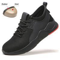 خفيفة الوزن تنفس الصلب أحذية سلامة بفتحة لأصبع القدم للرجال أحذية رياضية كاجوال شبكة ثقب واقية الأحذية الصناعية CN حجم 39-46