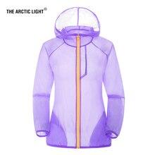 THE ARCTIC LIGHT Professional Running Jacket Men Women Summer Anti UV Sun Protection Ultralight Outdoor Coat Sport Hiking