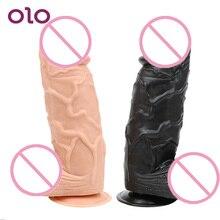 OLO Silicone Huge Big Dildos Suction Cup Artificial Penis Female Masturbator Realistic Dildo Sex Shop Sex Toys for Women