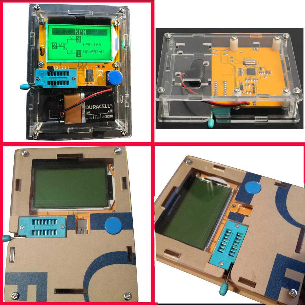 LCR-T4 Mega328 טרנזיסטור בודק דיודות טריודה קיבוליות ESR Meter MOS PNP/NPN M328 עם קבלים ESR בדיקות עבור Arduino diy