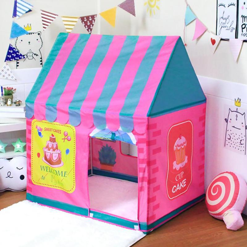 Portable Kids Tent Toy Set Prince Pricess Folding Baby Play Children Castle House Tent Outdoor Games Tool