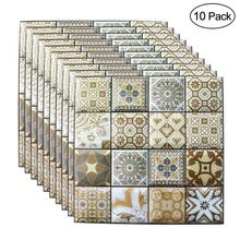 Self-adhesive 3D Brick Wall Stickers 10 Pcs 30*30CM Wallpaper Living  Restaurant Room Decor Waterproof Wall Covering Wallpaper brick stone wall paper chinese rustic vintage 3d stereoscopic wallpaper living room kitchen waterproof wallpaper wall covering