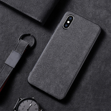 ALIVO For iPhone XS case,Luxury Fabric Suede Leather(Made in China)+PC+TPU Fitted Case 7 8 X XSMax XR Full Cover Capa