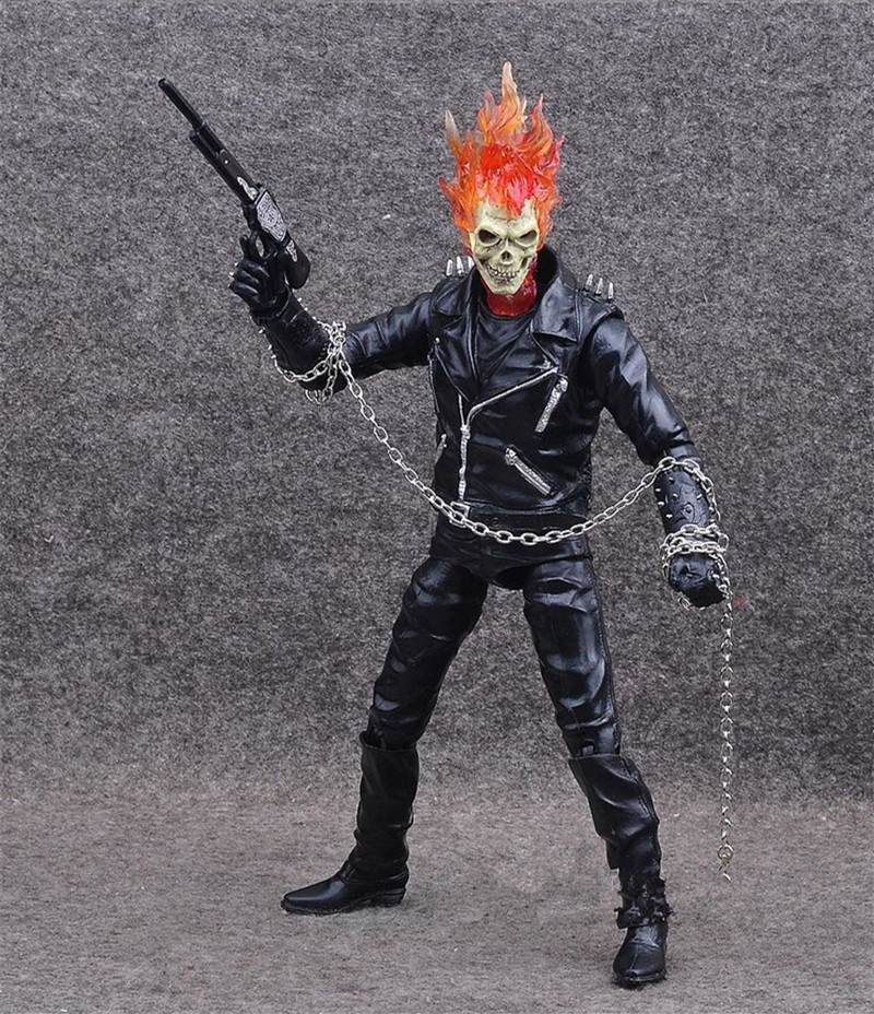 US $25 19 10% OFF|Marvel Ghost Rider Johnny Blaze Action Figure Toys  Collectible Model Doll 23CM With Retail Box-in Action & Toy Figures from  Toys &