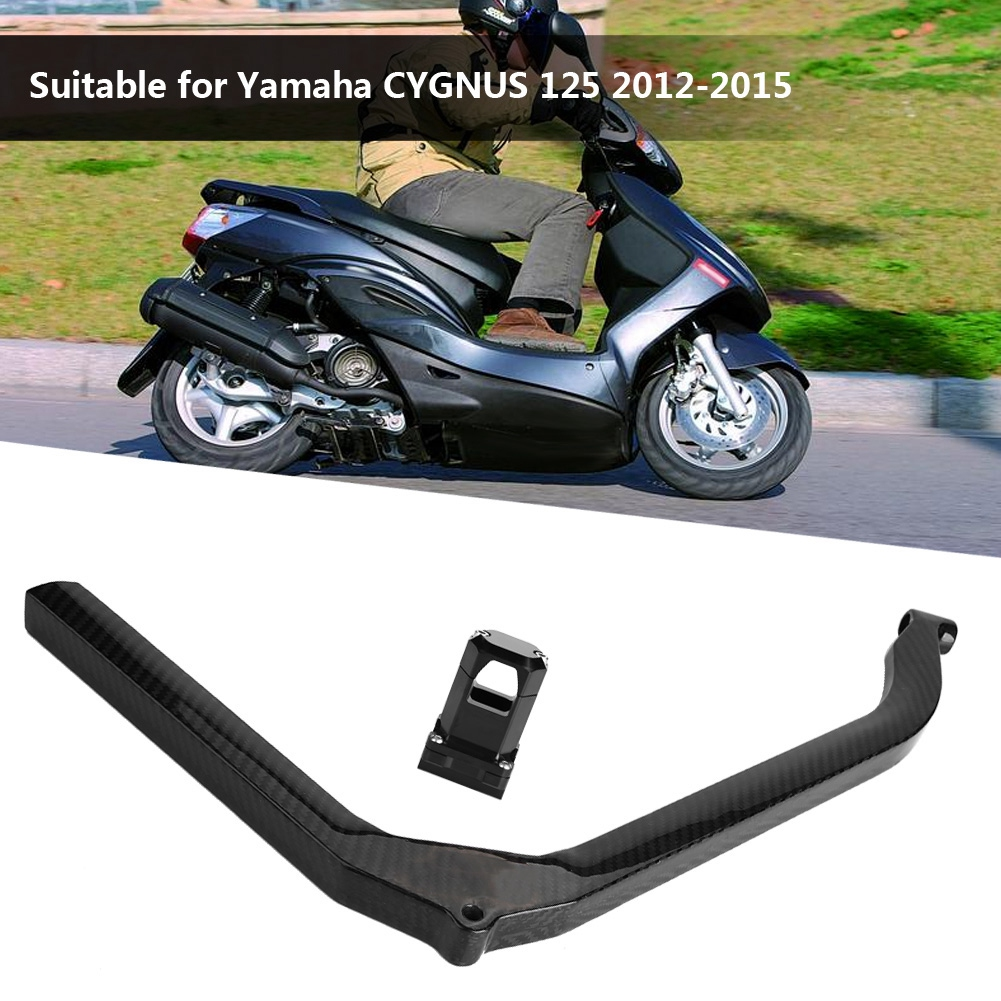 hight resolution of carbon fiber motorcycle strengthening the keel rod fixed beam glossy black for yamaha cygnus 125 2012