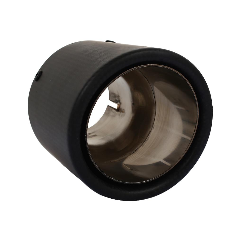 Vehemo 54-89 мм настоящее углеродное волокно глушитель наконечник трубы автомобиля хвост трубы из магазина производителя, из нержавеющей стали SUV выхлопной Хвост автомобиля аксессуар