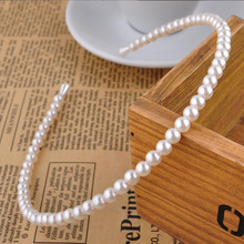 1PC elegant imitation pearl white headband fashion Korean hair accessories seaside wedding charming unique party birthday gift