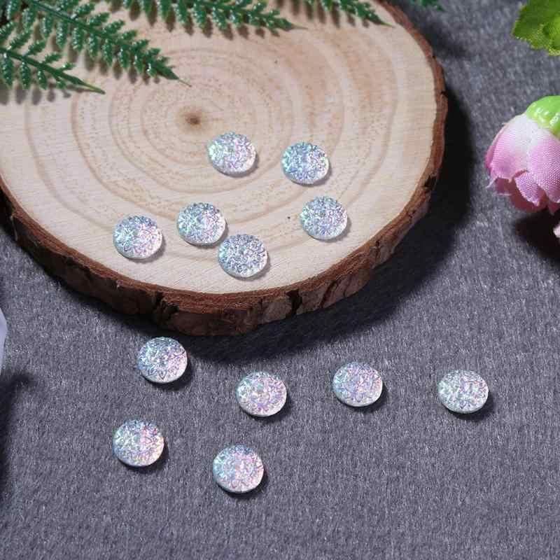 50pcs 12mm Glitter Estrela Resina Strass Encantos DIY Acessórios de Resina Pedra de Cristal Plano Voltar Scrapbook Artesanato de Natal Jóias