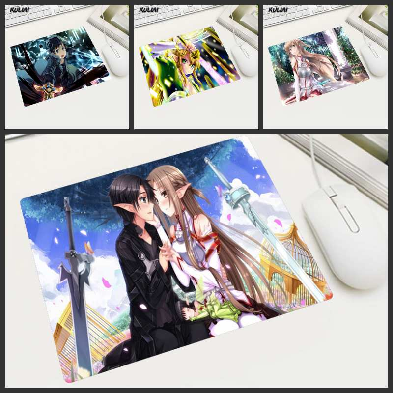 Kuliai Sword Art Online 25x29 Cm Anime Mouse Pad Small