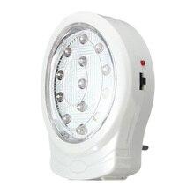 Перезаряжаемый светодиодный настенный аварийный светильник для дома, лампа для сбоя питания, AC110-240V с европейской вилкой для спальни, ночной Светильник