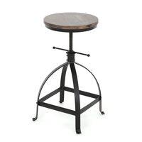 IKayaa промышленных стильный барный стул регулируемая высота поворотный Кухня обеденный для завтрака стул натурального соснового леса Топ ба