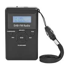 "Portable Digital DAB FM Radio Pocket Digital DAB Stereo Receiver with Earphone Lanyard 1.2"" Display Screen(China)"