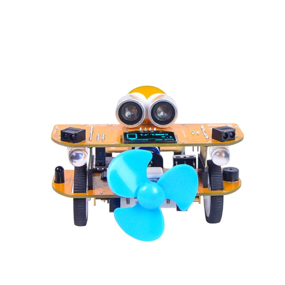 XIAO R bricolage Smart RC voiture Wifi contrôle infrarouge Mixly vapeur rayure graphique Programmable éducatif Robot Kit pour enfants cadeau