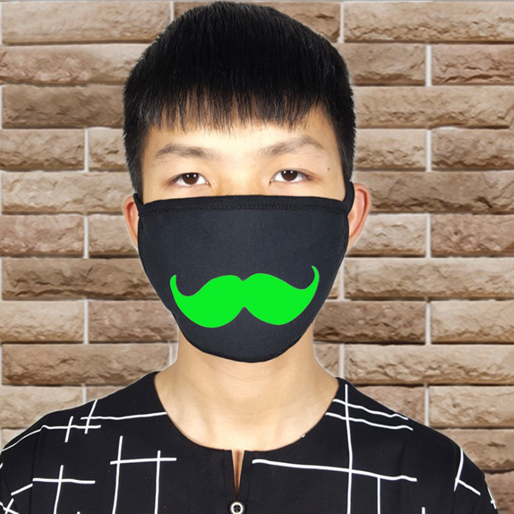 5 pcs Freddo Luminoso Unisex In Cotone Anti Polvere Viso Bocca Maschera Lavabile Anti-fog Maschera Filtro Earloop per L'uomo donna
