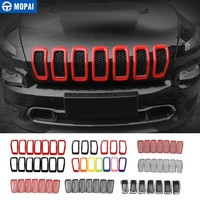 MOPAI Car Sticker for Jeep Cherokee 2014+ ABS Car Front Grilles Decoration Cover Stickers for Jeep Cherokee 2018 Car Accessories