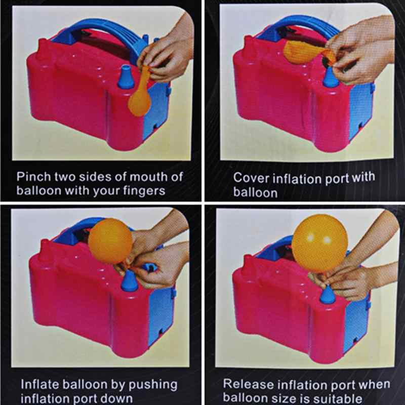 Portátil Ventilador De Ar De Alta Tensão Dupla Buraco AC Bomba de Balão Inflável Balão Elétrica Bomba de Ar Inflator Bomba Elétrica Balão