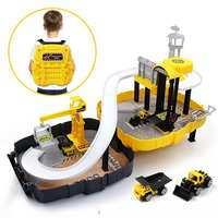 3D Toy Car War Armour Corps Play Set Garage Urban Construction Center Car Parking DIY Model Building Kits Assembly Children Kids