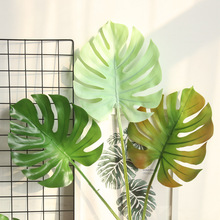 Monstera Ins Wind Flexible Glue Artificial Flowers Manufacturer Home Decoration Wedding Wall Plant