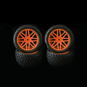 Image 2 - 4pcs Wheel Rim & Rubber Tyre Tires For RC 1/10 Off Road Car Buggy Replacement