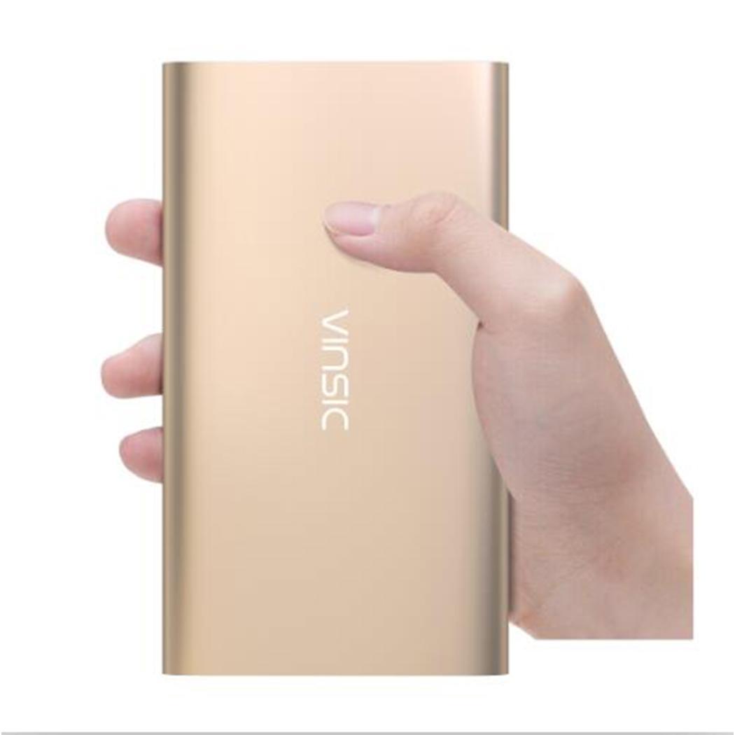 Vinsic Alien P11 Ultra mince 12000 mAh batterie externe 5 V 2.4A double USB chargeur de batterie externe pour iPhone X 8 8plus Xiaomi Huawei