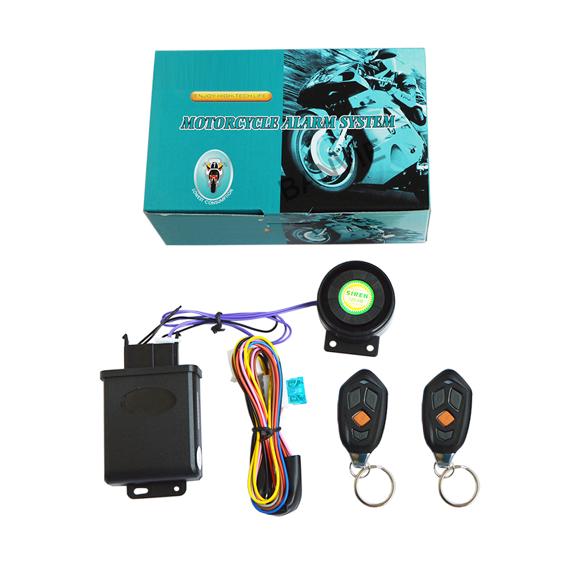 High Quality CE FCC Certified Universal SPY Waterproof Motorcycle Alarm System With Engine Start & Cut Off Motorbike/ Bike Alarm