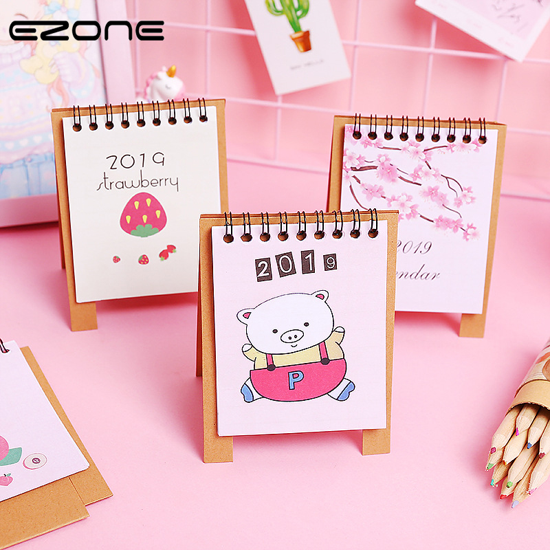 Dependable Ezone 1pc Cute Diy Small Fresh Desktop Support 2018 Year Stationery Decorative Calendar Periodic Planner Table Learning Schedule Office & School Supplies