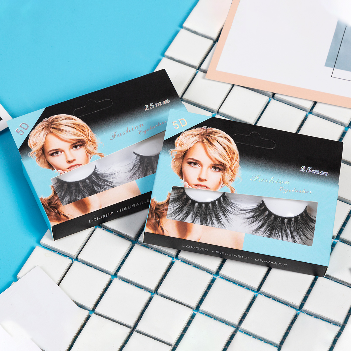 Image 5 - SEXYSHEEP 25mm 5D Mink Eyelashes 100% Cruelty free Lashes Handmade Reusable Natural Eyelashes Popular False Lashes Makeup-in False Eyelashes from Beauty & Health