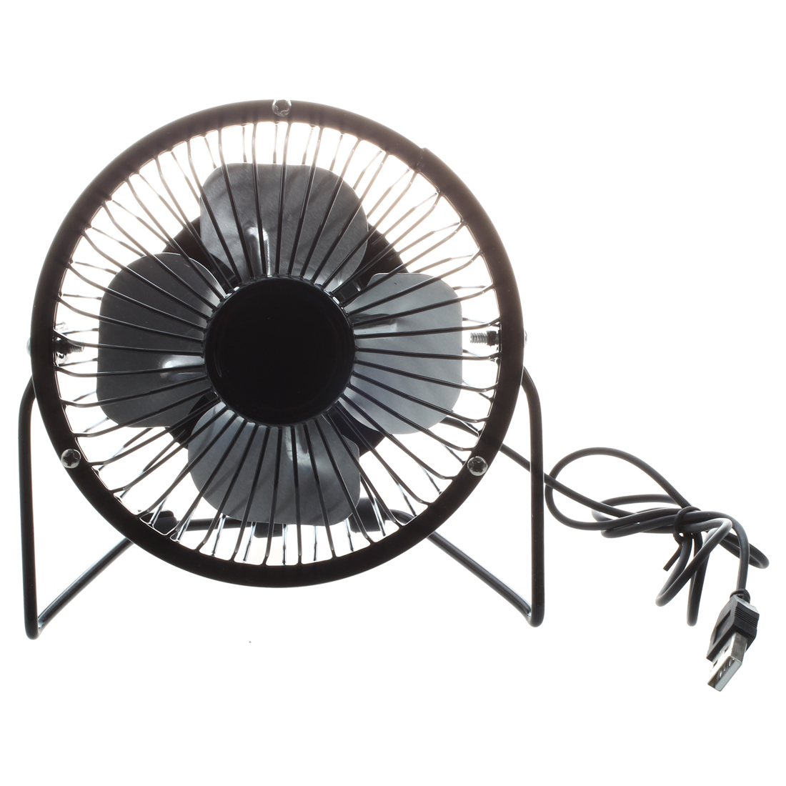 4-inch 360-degree Rotating Usb Powered Metal Electric Mini Desk Fan For Pc /laptop /notebook black Colours Are Striking