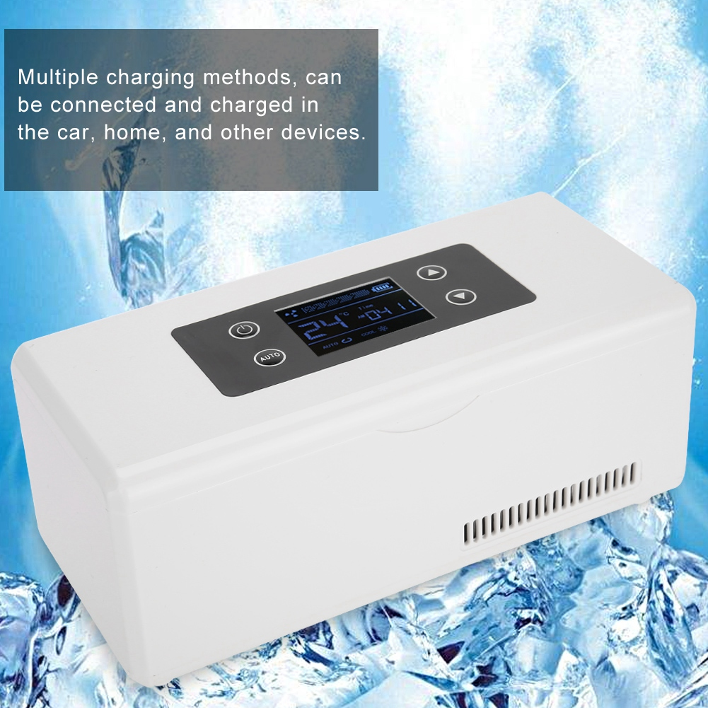 New Portable Mini Insulin Refrigerator Cooler Medical Travel Cooling Case 220V USB Cable