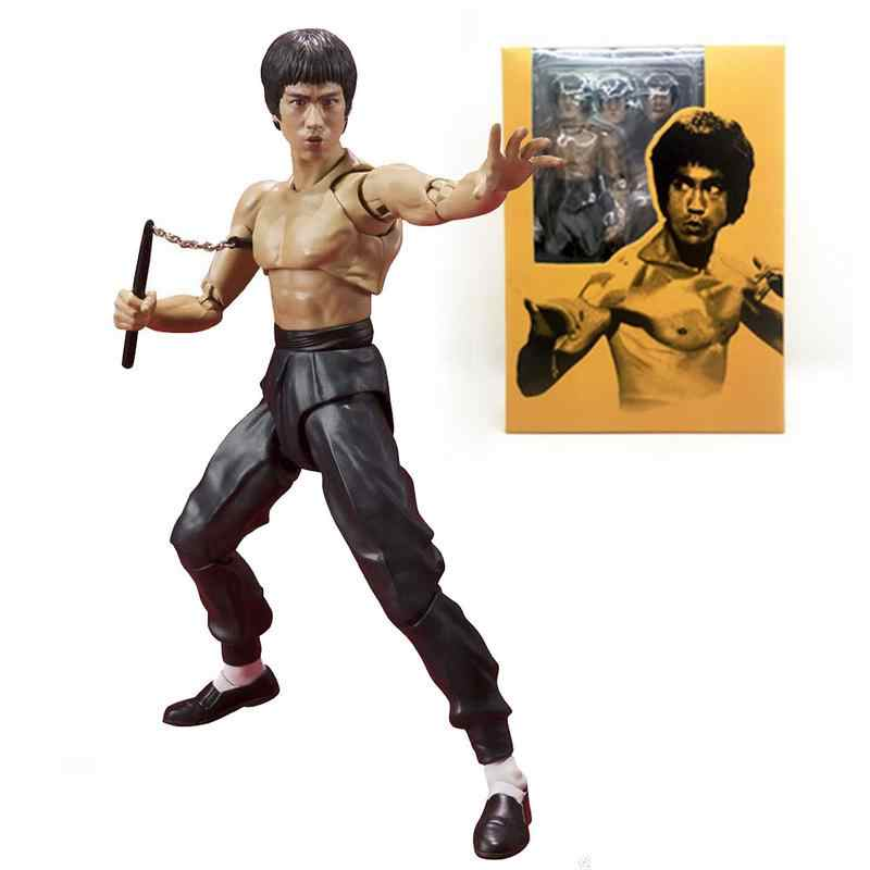 5.5 Inch Movie King Kung Fu Bruce Lee Figuarts Model PVC Action Figure Collectible Model Toy