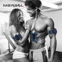 EMS Massager Trainer Abdominal Muscle Stimulator Electrical Vibrate Body Fitness Relaxation Slimming Pad Health Care Black Tool