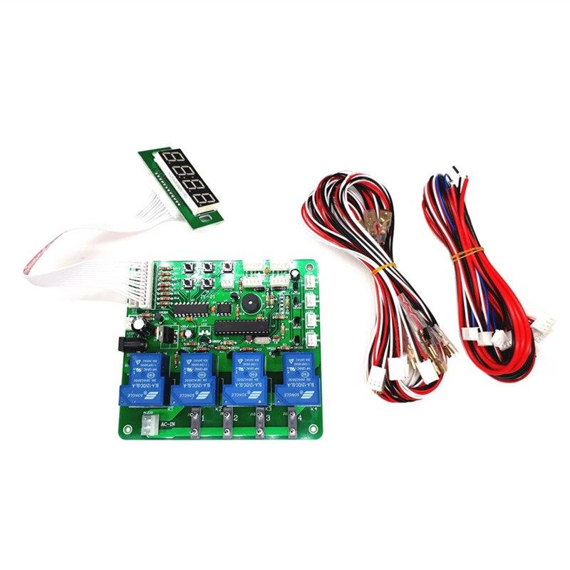 JY-21 4 Dígitos 1-4 Dispositivos Billetes Monedas Operado Temporizador Tablero Control De Tiempo Pcb Para Lavadora De Coches Máquina Expendedora