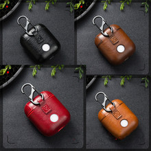 case for airpods protective cover Bluetooth wireless headset set Airpods leather