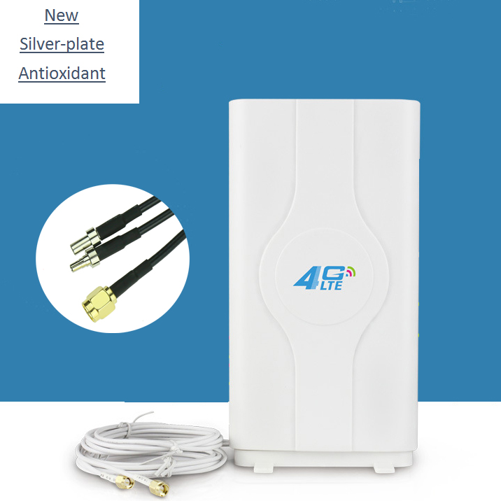 3g 4g LTE antenne Mobile antenne Booster mimo Panel Antenne 2 * SMA-männlich/TS9/ CRC9 Stecker mit 2 mt Kabel 700 ~ 2600 mhz 88dBi