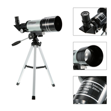 Refractive Space Astronomical Telescope Monocular F30070M Outdoor Telescope 150X Travel Hunt Spotting Scope with Portable Tripod