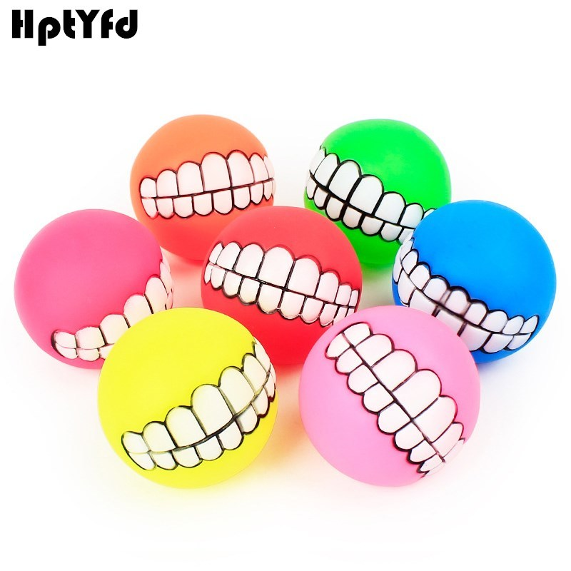 HptYfd Funny Dog Rubber Toy Chew Ball Squeaky Dog Toys para perros - Productos animales