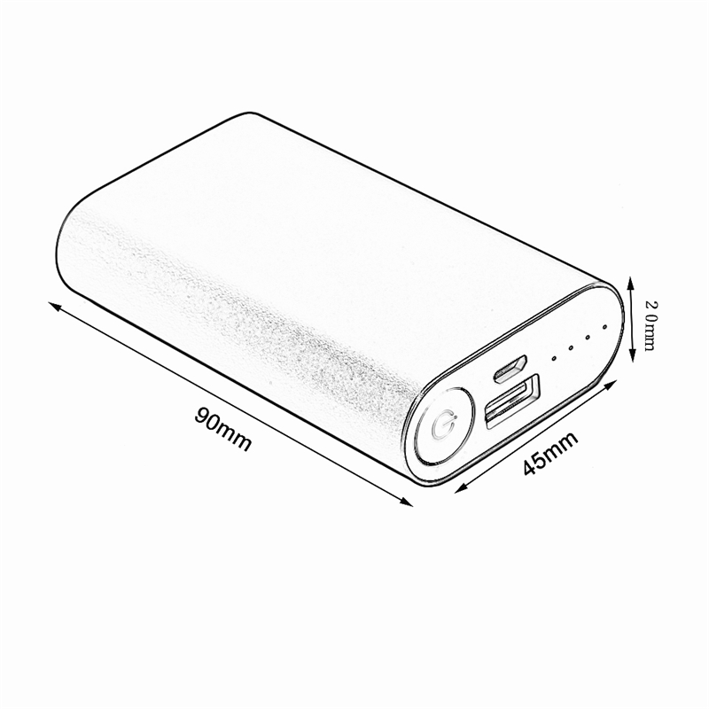 portable fast usb charging external power bank case 2