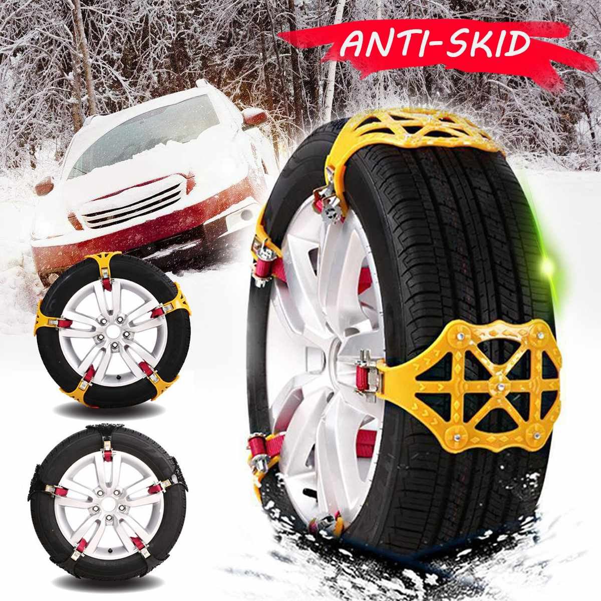 Winter Universal Car Tire Anti Skip Snow Chain Cars Trucks Wheels Tyres Roadway Safety Tire Chains Sand Mud Road Anti-slip Belt
